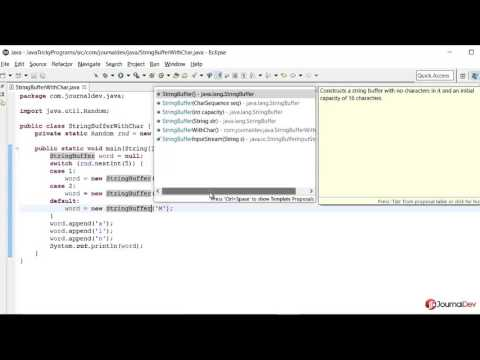 Java Tricky Program 21 - StringBuffer Constructor and Char