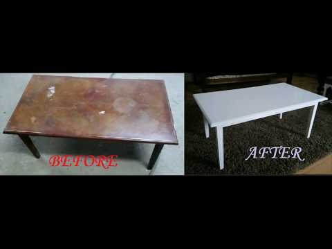DIY coffee table restoration