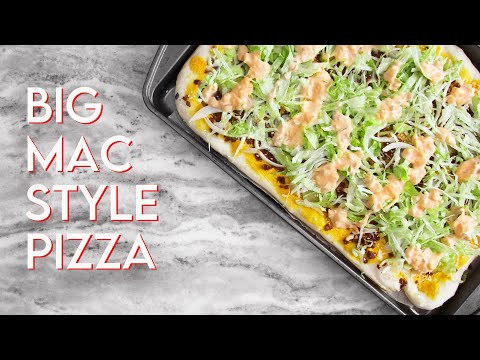 VEGAN BIG MAC PIZZA
