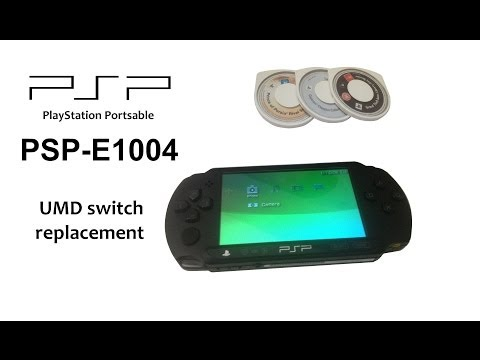 PSP E1000 / E1004 - Not Reading Games Problem / UMD Switch Replacement