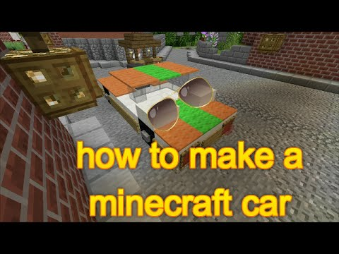 Minecraft: Xbox/PC -how to make a car (no mods)-EASY!
