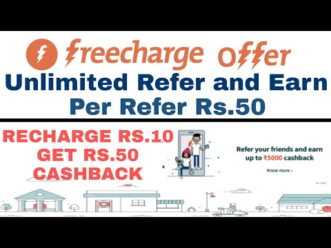Freecharge Refer and Earn Offer - Earn Upto Rs 5000 | Freecharge New Refer and Earn Offer