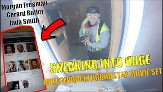 SNEAKING INTO BIG BLOCKBUSTER MOVIE SET!