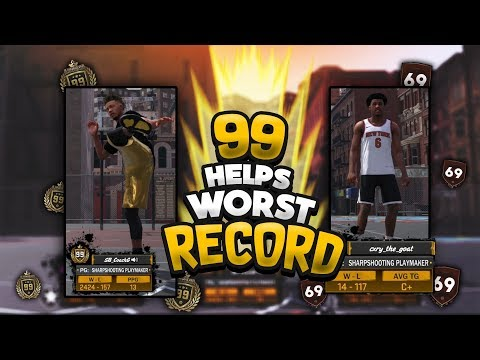 99 OVERALL TRIES TO HELP FIX THE WORST RECORD IN NBA2K HISTORY- NBA2K18