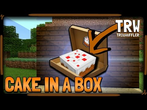 ▶How to Make a Cake in a box 》Minecraft pe