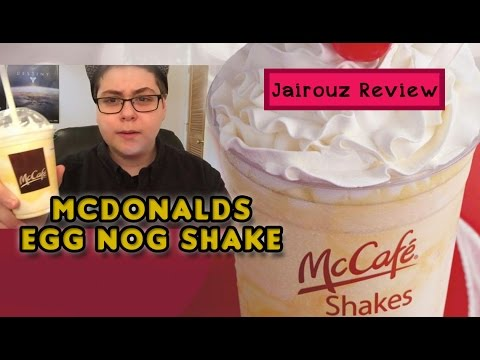McDonald's Eggnog Shake 2014 Review!