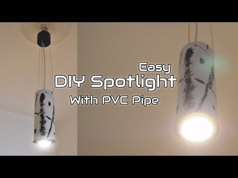 DIY | Modern Ceiling Spotlight with PVC Pipe
