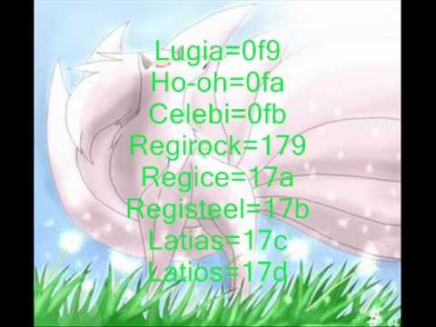 Pokemon Platinum all legendary ar codes