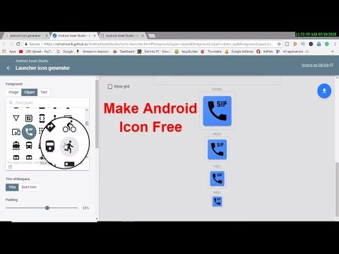 How to make  Free Android Icon Button || Free Icon assets || Free Icon generator