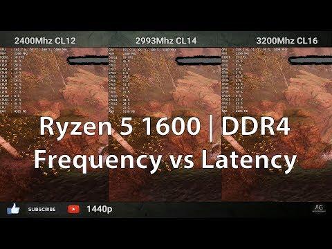 DDR4 Latency vs Frequency   2400 CL12 vs 3000 CL14 vs 3200 Mhz CL16     Ryzen 5 1600   1080p & 1440p