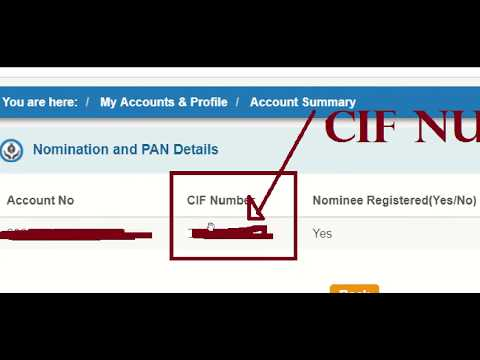 How to Get CIF Number of SBI Account 2018