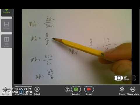 Gear Ratio as a Mechanical Advantage