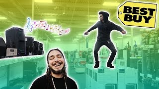 "Post Malone ""Psycho"" Speaker Prank in Best Buy! (Kicked Out)"
