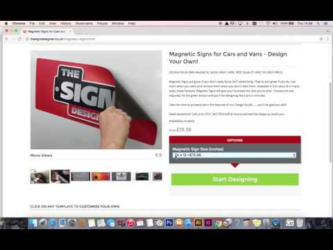 The Sign Designer - Select required size of Magnetic Sign or Printed Vinyl Banner