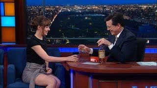 Stephen and Dakota Johnson Drink Tequila