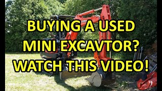 What to look for when buying a mini excavator