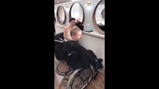 pretty wheelchair girl haircut