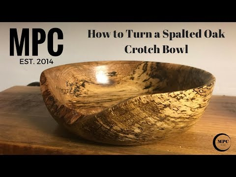 How to Turn a Spalted Oak Crotch Bowl