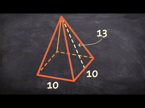 How to find the surface area of a 3D pyramid