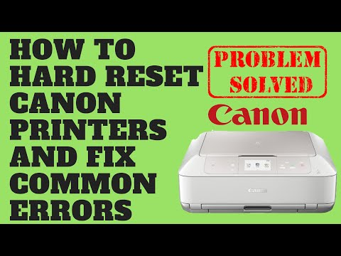 How to Hard Reset Canon Printers and Fix Common Errors
