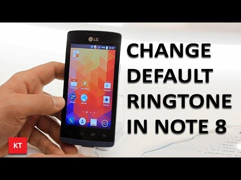How to change the default ringtone in android (Note 8)