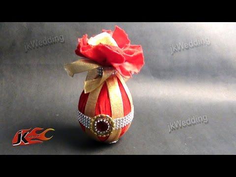DIY Coconut Decoration For Indian Wedding | Shagun nariyal packing | JK Wedding 010