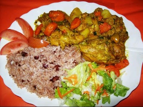 The Best Jamaican Curry Chicken and Rice and Peas Tutorial