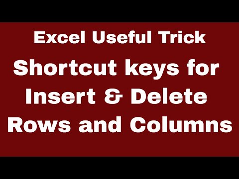 Excel 2016 | 5 Quick Tips to Insert / Delete Rows & Column | Advance Tricks