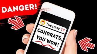 If You Get a Winning Message, Your Phone Might Be In Danger!