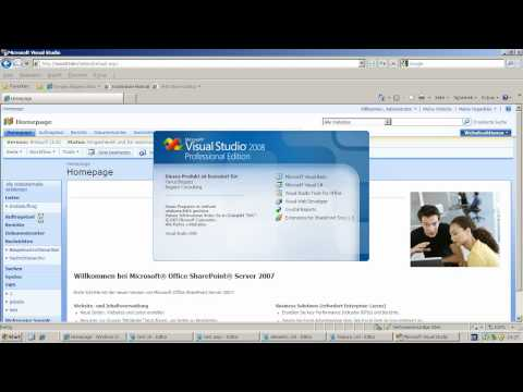 Application Pages (.aspx) für Sharepoint 2007 mit Code-Behind erstellen Part 1 von 4
