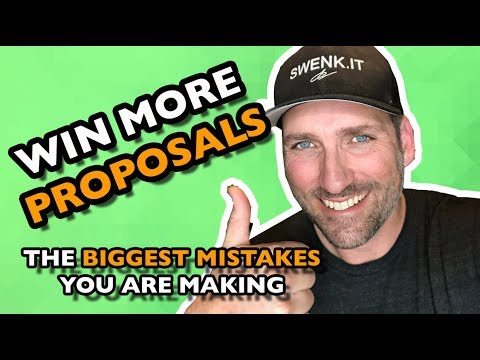 HOW TO WIN MORE MARKETING AGENCY PROPOSALS | SwenkToday #118