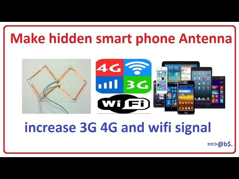 How to make hidden smart phone antenna for increase 3G 4G and wifi signal
