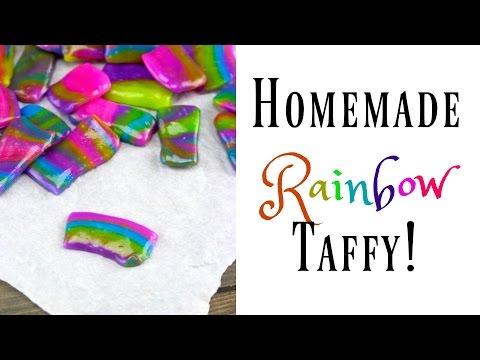 Homemade Rainbow Taffy Recipe! | Nerdy Treats Ep. 6