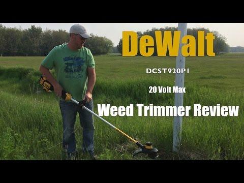DeWalt 20 Volt Max String Trimmer DCST920P1 Review