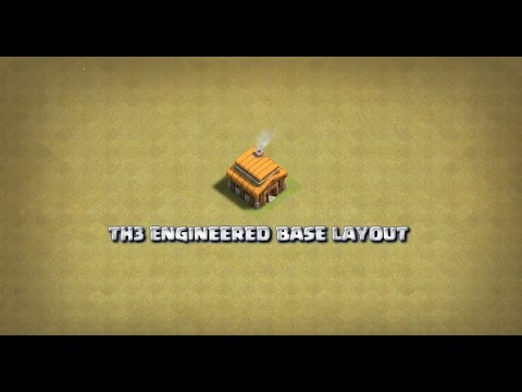 CoC - TH3 Base Layout (War/Main) Engineered!