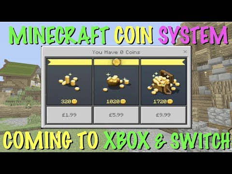 MINECRAFT XBOX & SWITCH - COINS - IN GAME CURRENCY - ALL CONFIRMED! BETTER TOGETHER UPDATE!