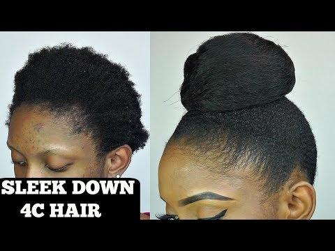 How To Sleek Bun On Short 4C Natural Hair Tutorial