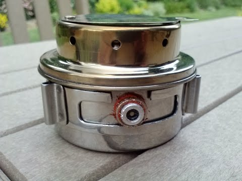 Recent score from eBay - A Tatonka Alcohol Stove with WawHiker's External Fuel Feed Upgrade