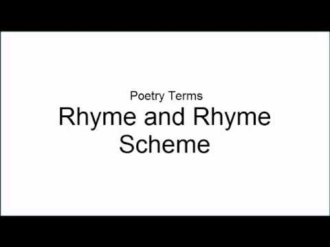 Poetry Terms: Rhyme and Rhyme Scheme