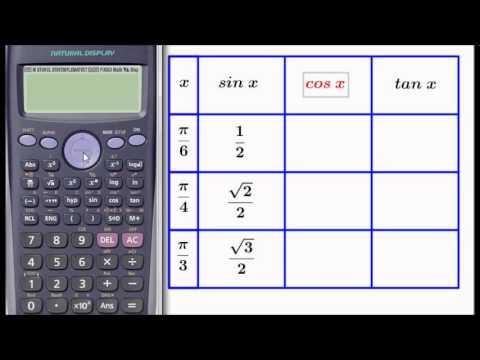 Trigonometric functions with radians for fx-82ES CASIO calculator