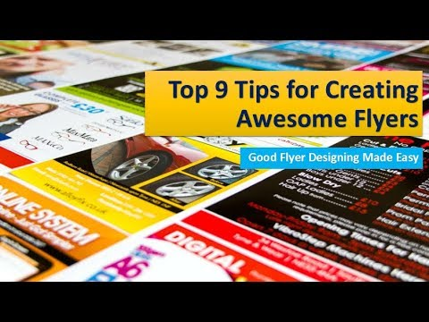 Top 9 Tips to Make a Professional Business Flyer Design