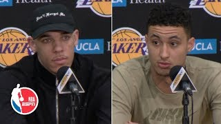 Lonzo Ball, Kyle Kuzma, Lance Stephenson shocked by Magic Johnson's resignation | NBA on ESPN
