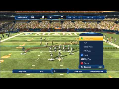 Madden 13 - Vince Lombardi Ultimate Team Solo Challenge w/ Kinect