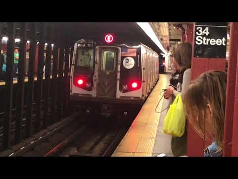 A, C, and E action at 34th Street Penn Station 4/28/18