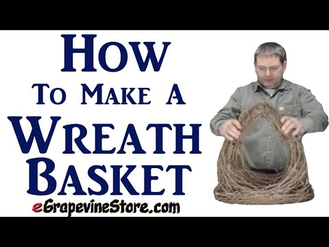 How To Make A Wreath Basket.
