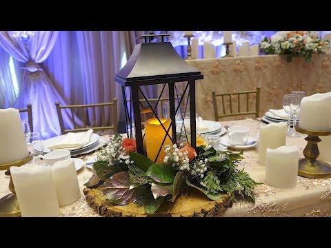 Lantern Table Centrepiece With Fresh Flowers DIY