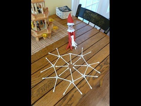 My Elf on the Shelf gets into the q-tips and makes a snowflake!