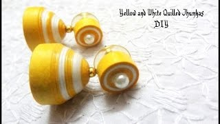 How to make paper quilling jhumkas or earring easy method   Earrings Making video