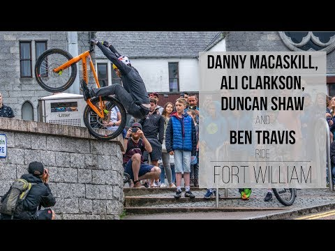Danny MacAskill, Ali Clarkson, Ben Travis and Duncan Shaw Ride Fort William!