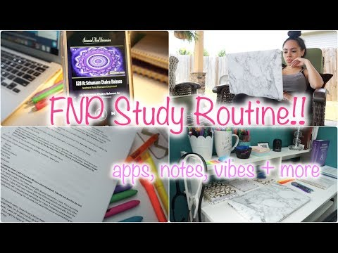 MY IN-DEPTH, REALISTIC STUDY ROUTINE! ♥︎ FNP GRAD STUDENT